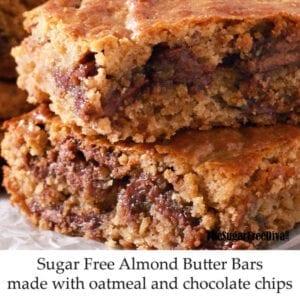 Sugar Free Almond Butter Bars