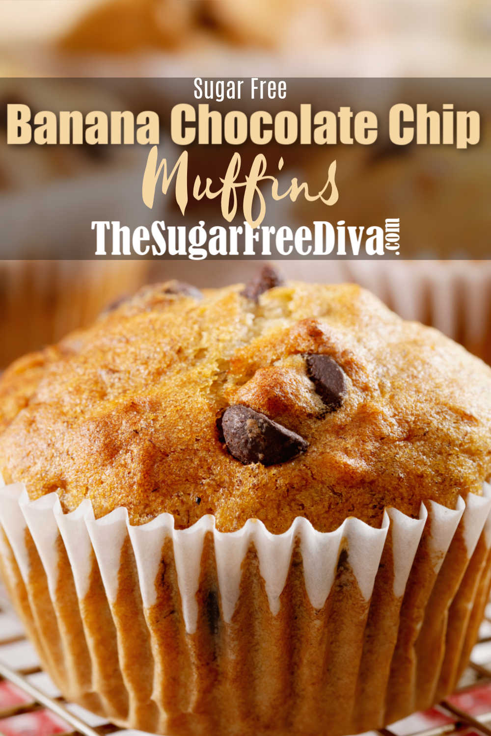 Sugar Free Banana Chocolate Chip Muffins