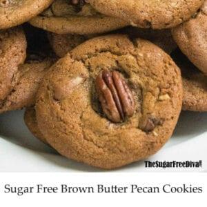 Sugar Free Brown Butter Pecan Cookies