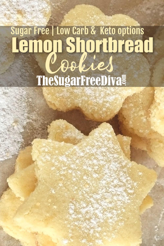 Sugar Free Lemon Shortbread Cookies