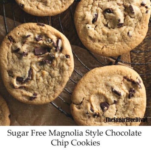 Sugar Free 'Magnolia' Style Chocolate Chip Cookies