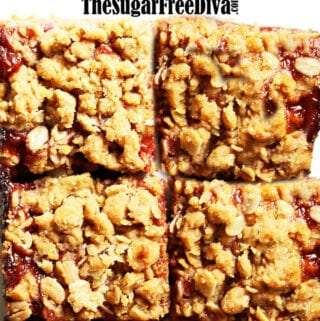 Sugar Free Peanut Butter and Jelly Bars