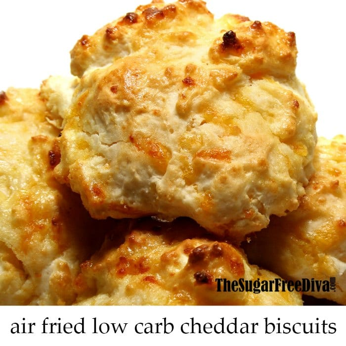 Air Fried Low Carb Cheddar Cheese Biscuits