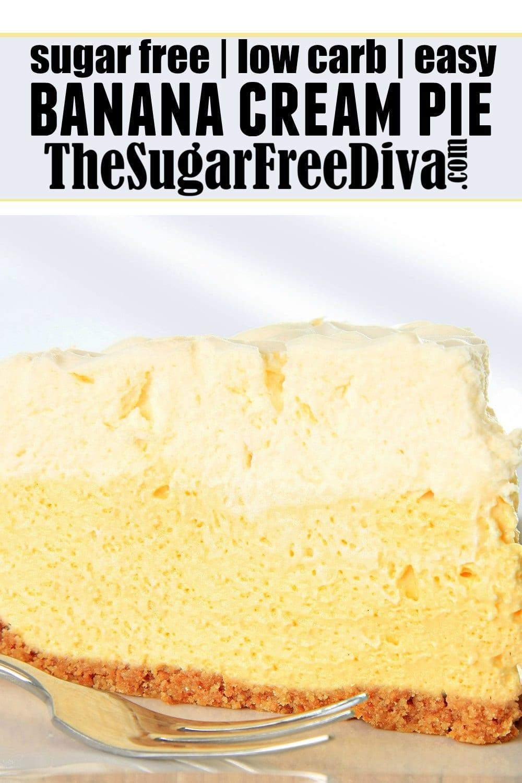 Easy Sugar Free Banana Cream Pie