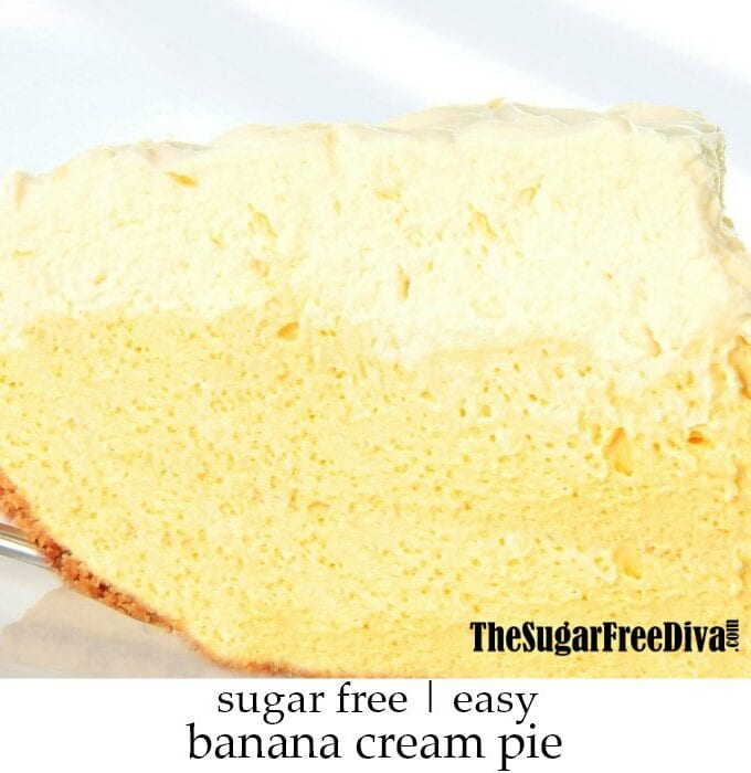 Easy Sugar Free Banana Cream Pie