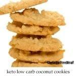 Sugar Free Keto Coconut Cookies
