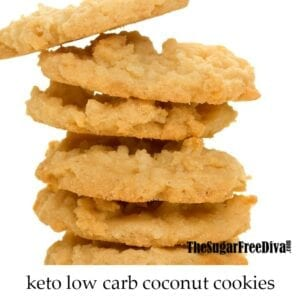 Sugar Free Keto Coconut Cookies