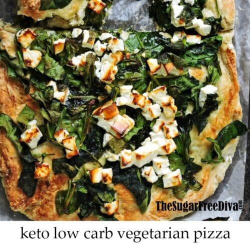 Keto Low Carb Vegetarian Pizza