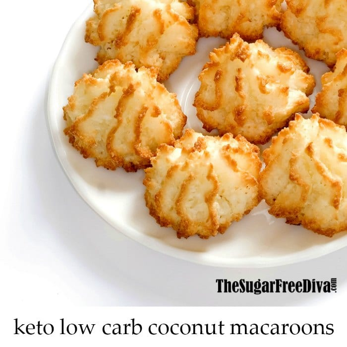 Keto Low Carb Coconut Macaroons The Sugar Free Diva