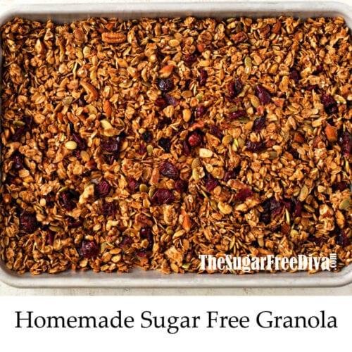 Homemade Sugar Free Granola The Sugar Free Diva
