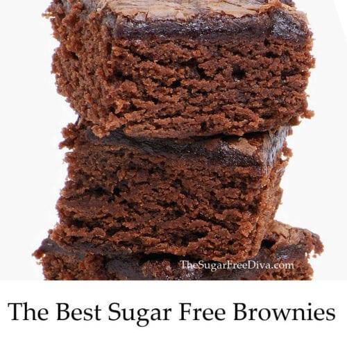 The Best Sugar Free Chocolate Brownies