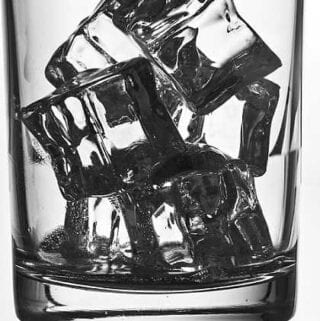 ice cubes glass