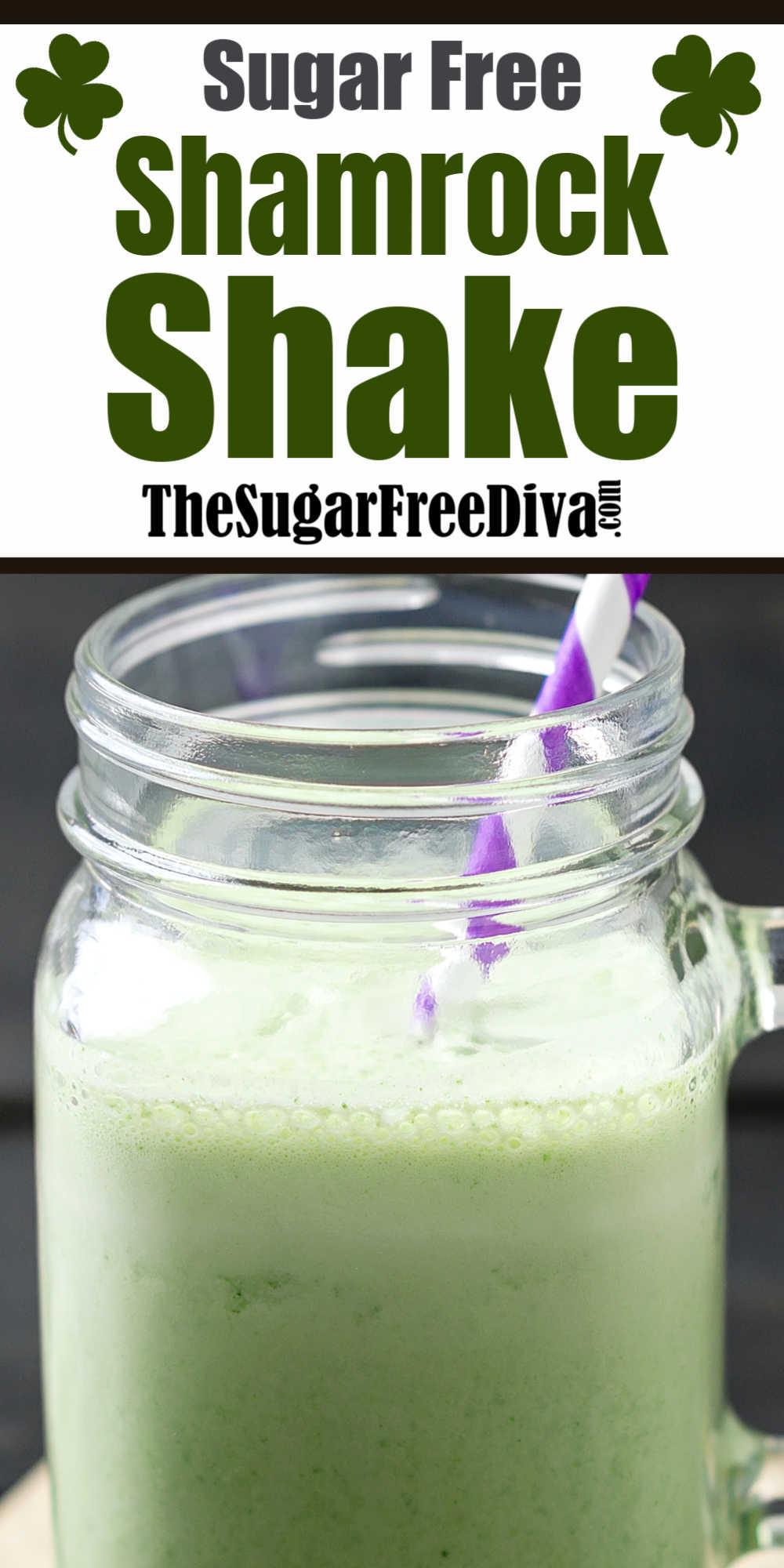 How to make a Sugar Free Shamrock Shake