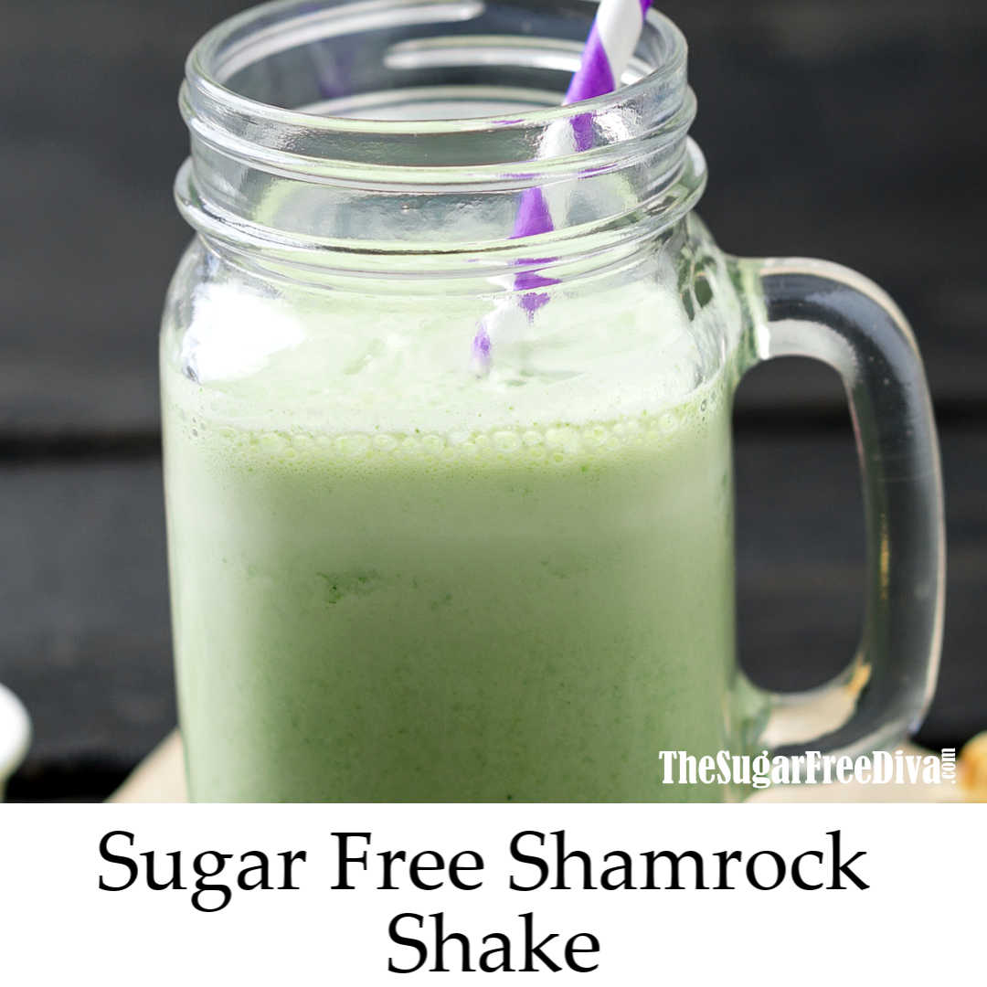 This is how to make a Sugar Free Shamrock Shake