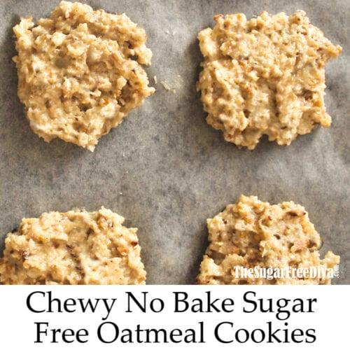 Sugar Free No Bake Peanut Butter Cookies