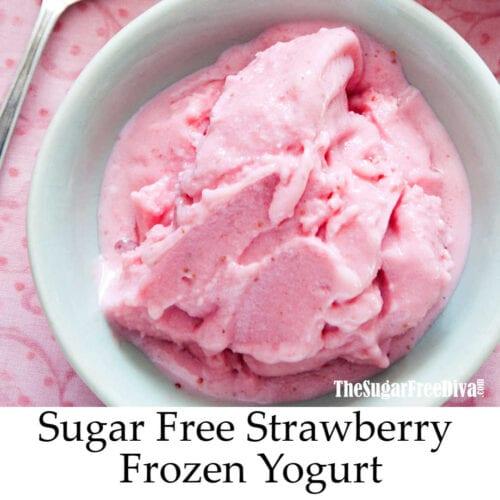 Sugar Free Strawberry Frozen Yogurt
