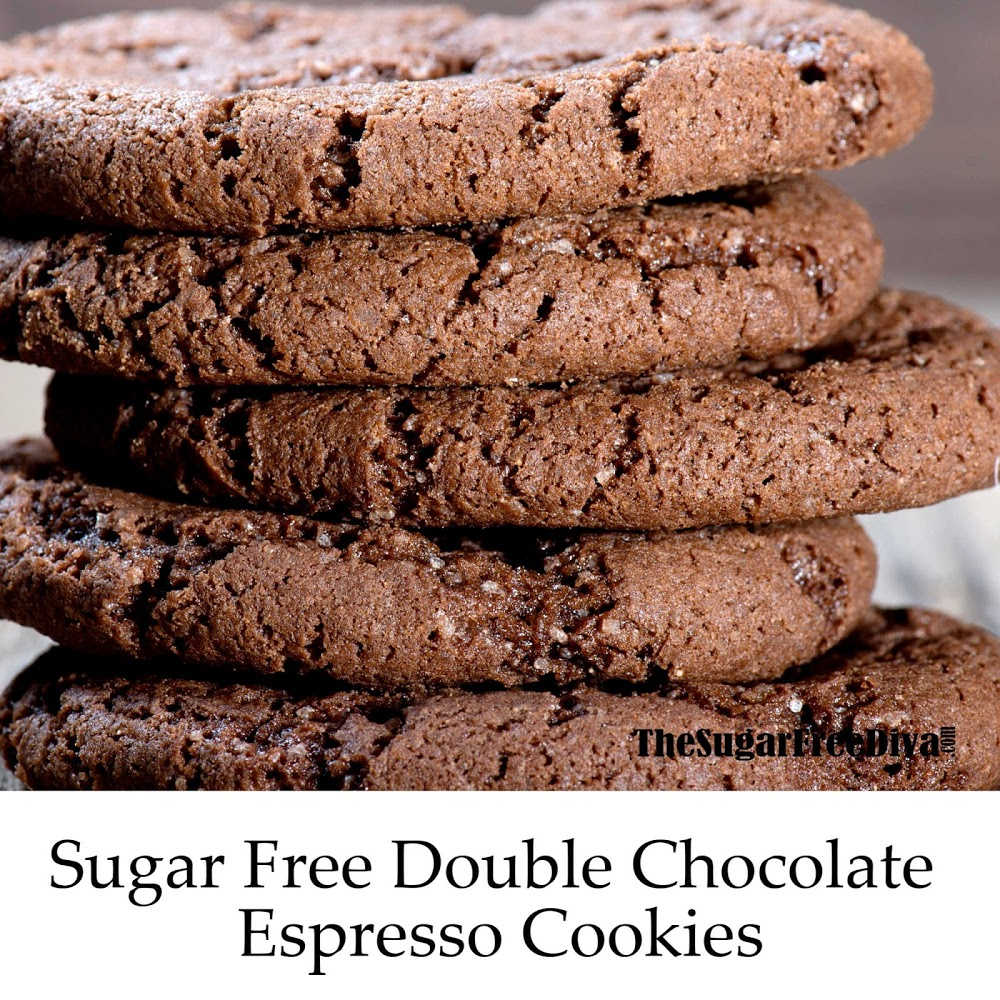 Sugar Free Double Chocolate Espresso Cookies