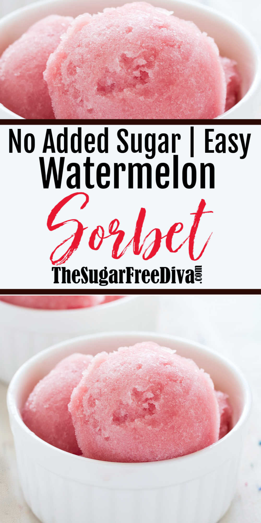 Sugar Free Watermelon Sorbet