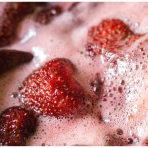 boil strawberries