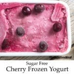 Sugar Free Cherry Frozen Yogurt