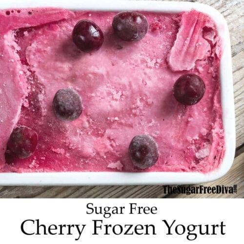 Sugar Free Cherry Frozen Yogurt