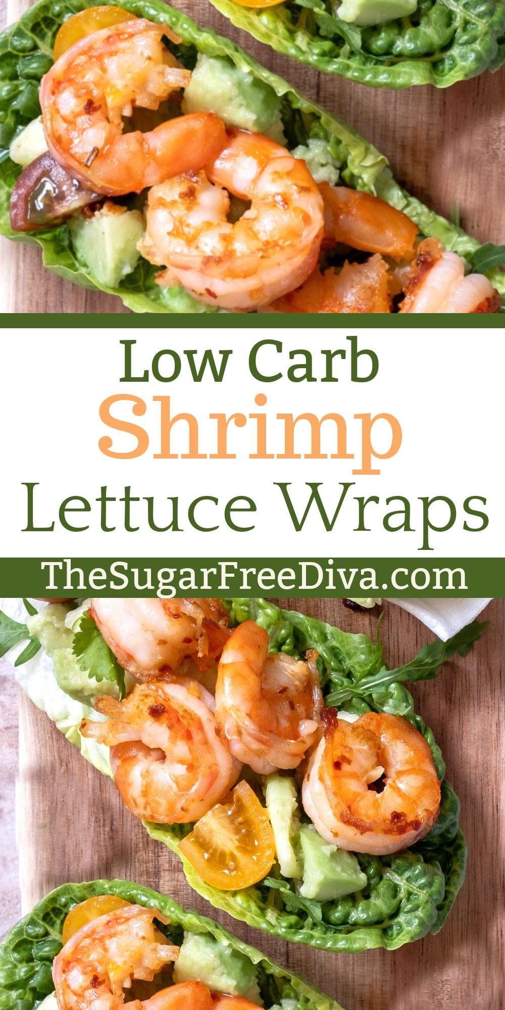 Low Carb Shrimp Lettuce Wraps