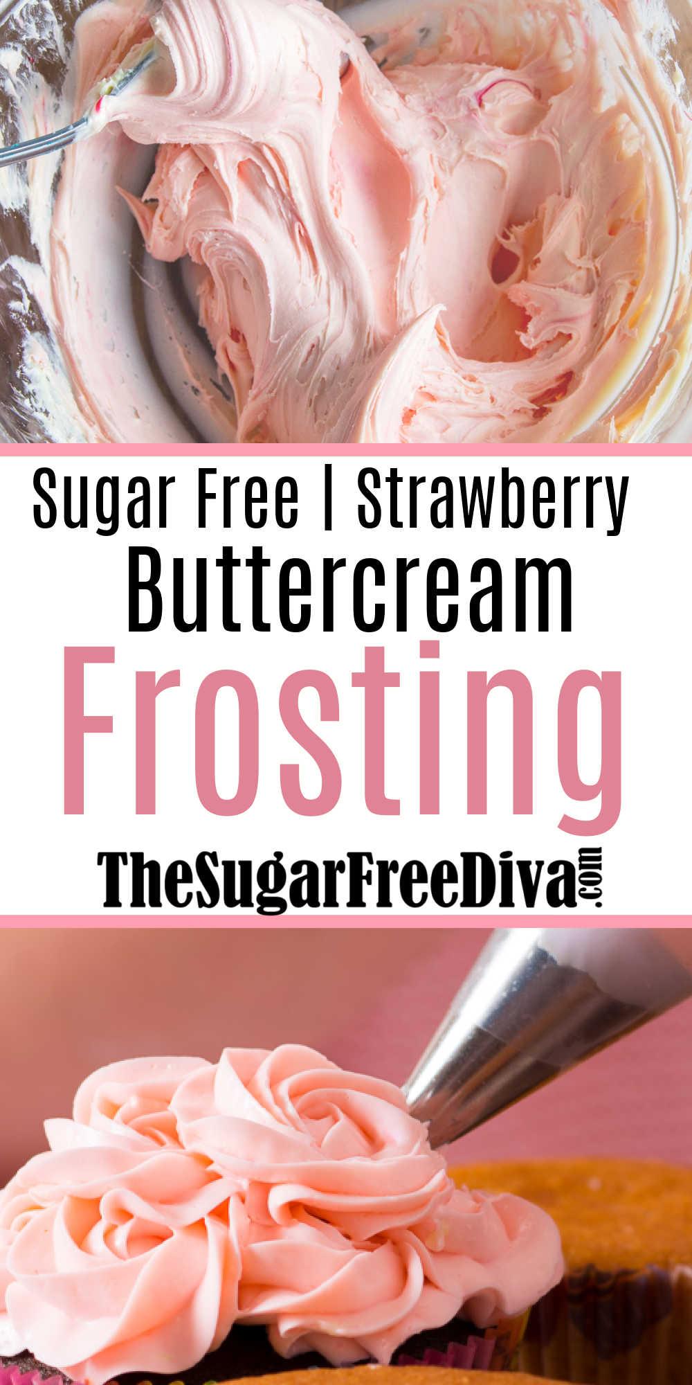 Sugar Free Strawberry Buttercream Frosting