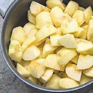 apples in pot or sauce pan