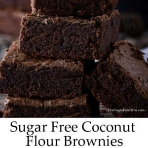 Sugar Free Coconut Flour Brownies