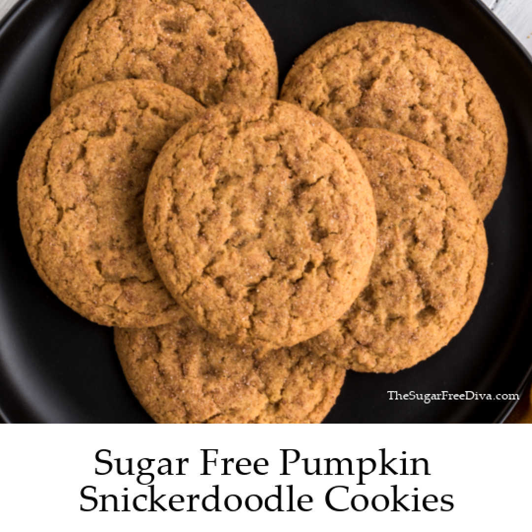 Sugar Free Pumpkin Snickerdoodle Cookies