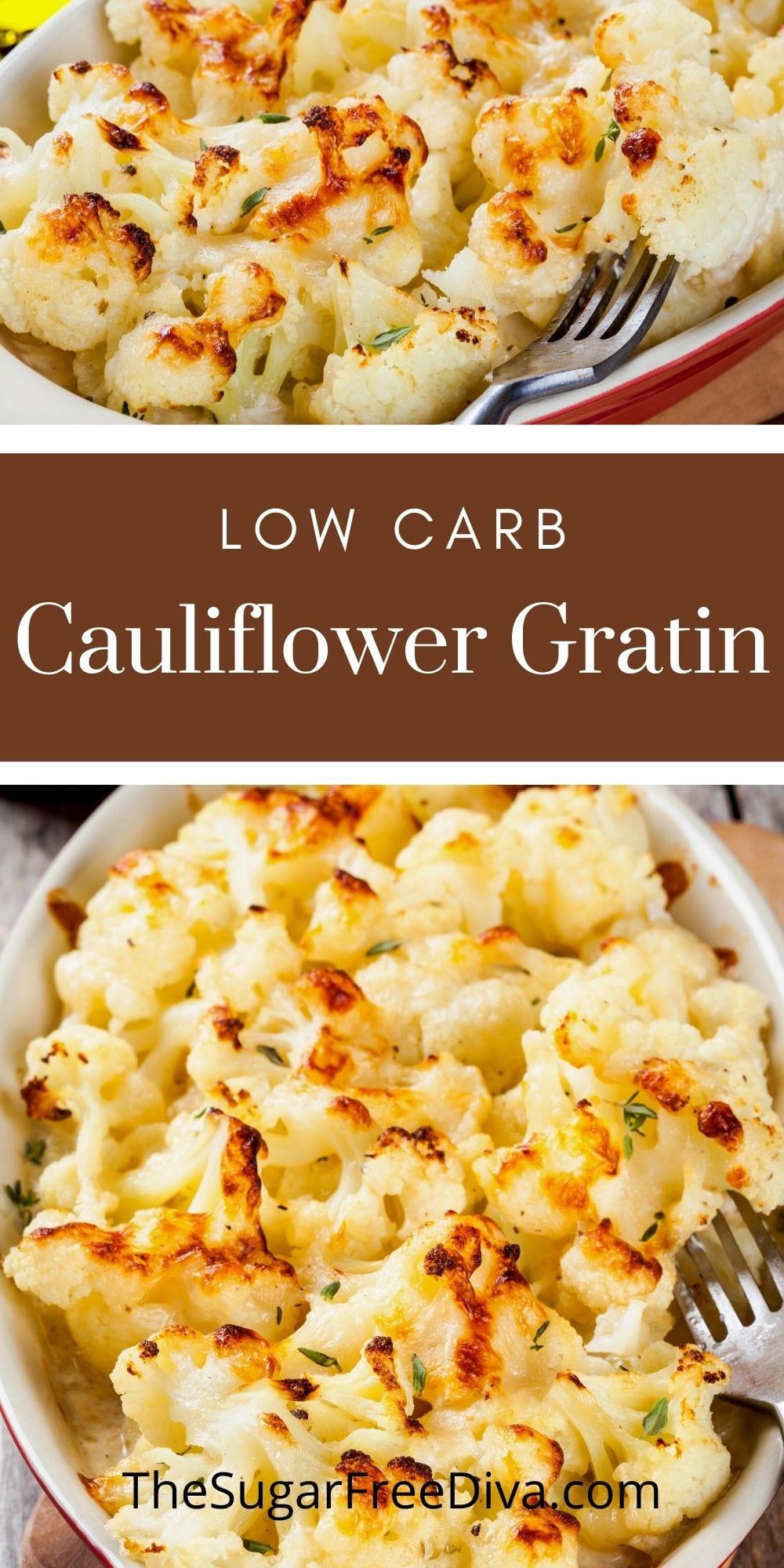 Low Carb Cauliflower Gratin