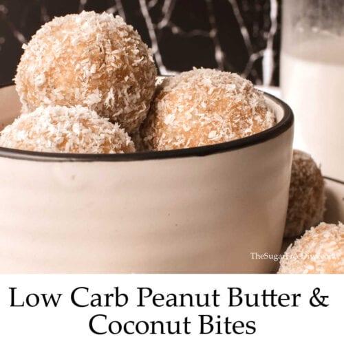 Keto Low Carb Peanut Butter Coconut Bites