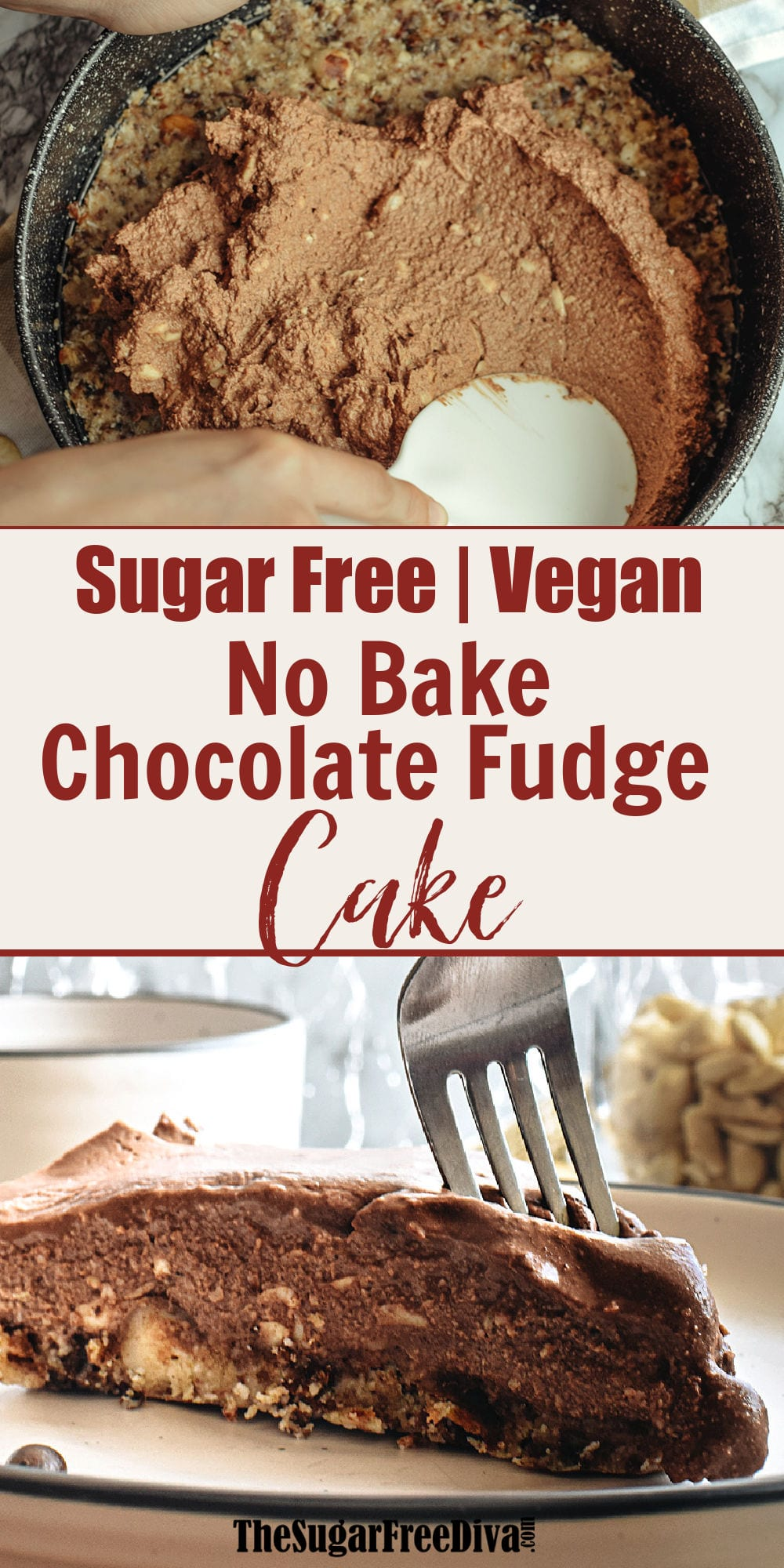 No Bake Sugar Free Vegan Chocolate Cake The Sugar Free Diva