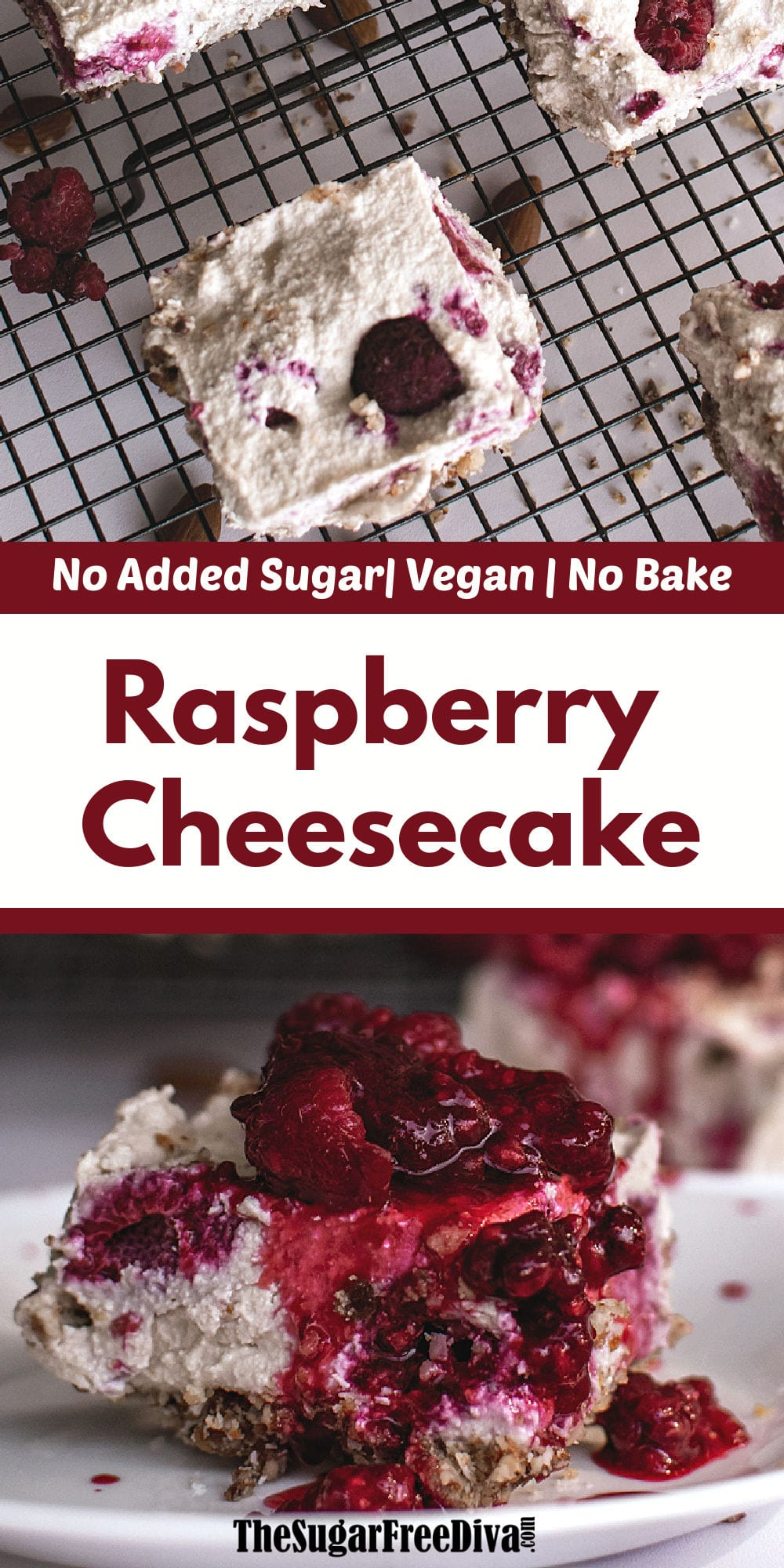 No Added Sugar Vegan No Bake Cheesecake