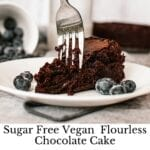 Sugar Free Vegan Chocolate Cake