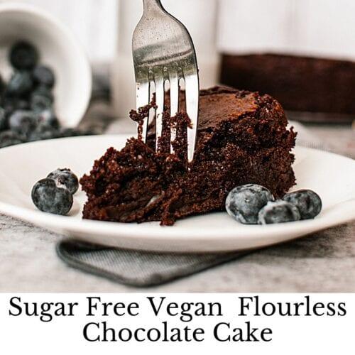 Sugar Free Vegan Chocolate Cake