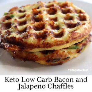 Keto Low Carb Jalapeno Bacon Chaffles