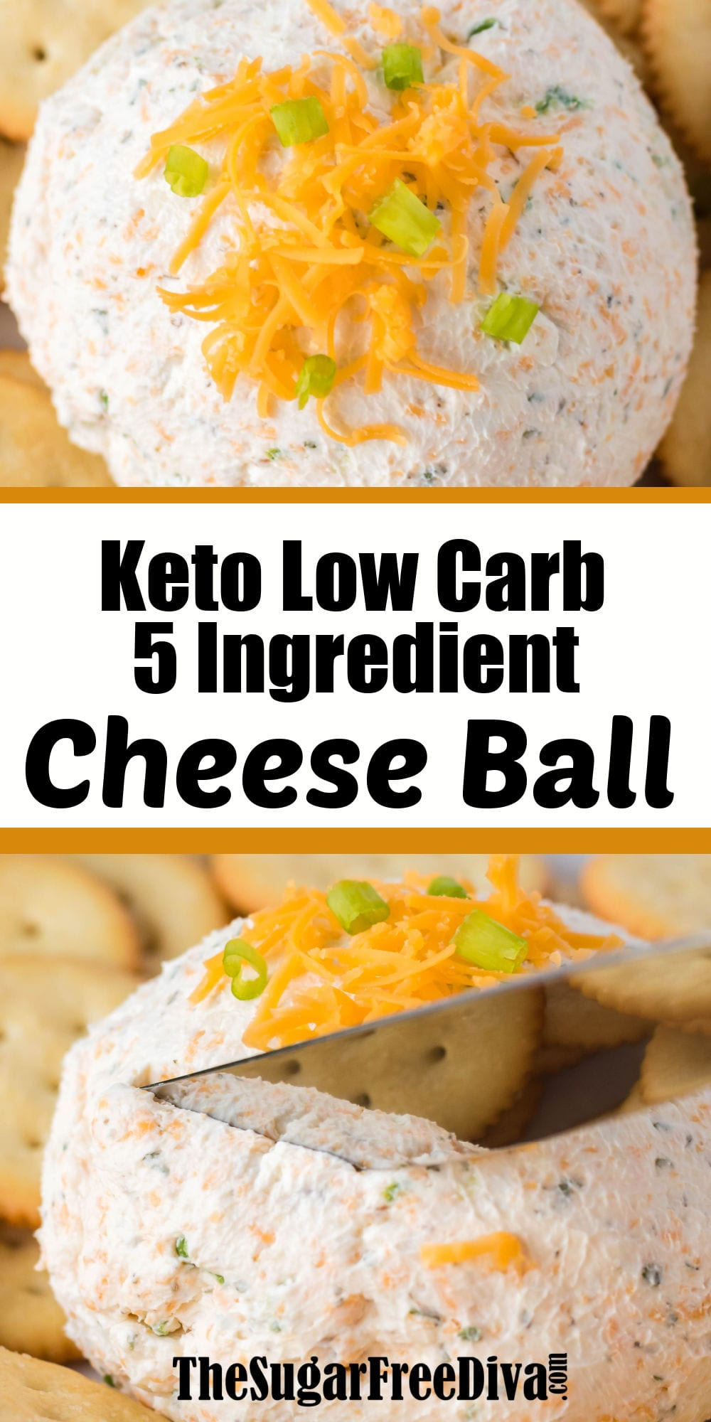 5 Ingredient Keto Low Carb Cheese Ball