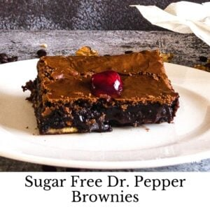 How to Make Sugar Free Dr. Pepper Brownies