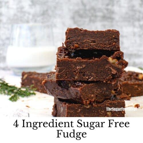 Easiest Sugar Free Fudge 4 Ingredients