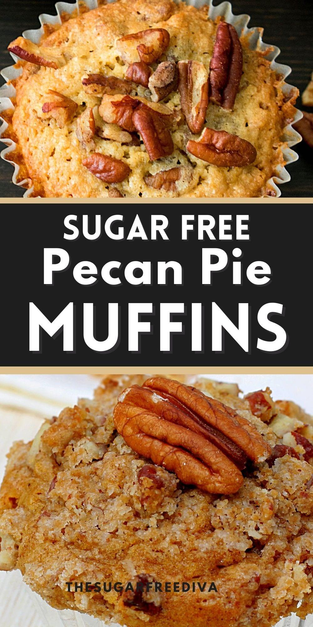 Sugar Free Pecan Pie Muffins
