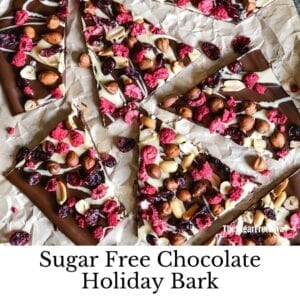 Sugar Free Chocolate Holiday Bark