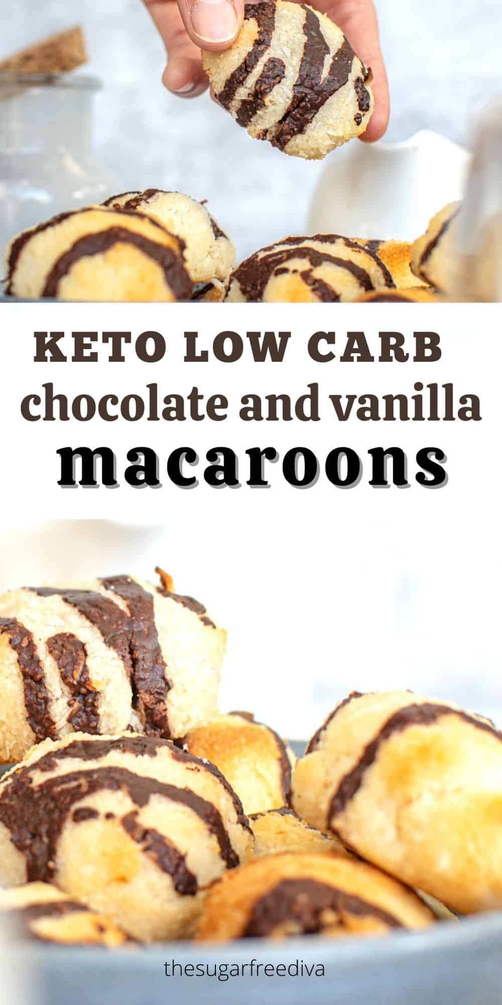 Keto Low Carb Chocolate and Vanilla Macaroons