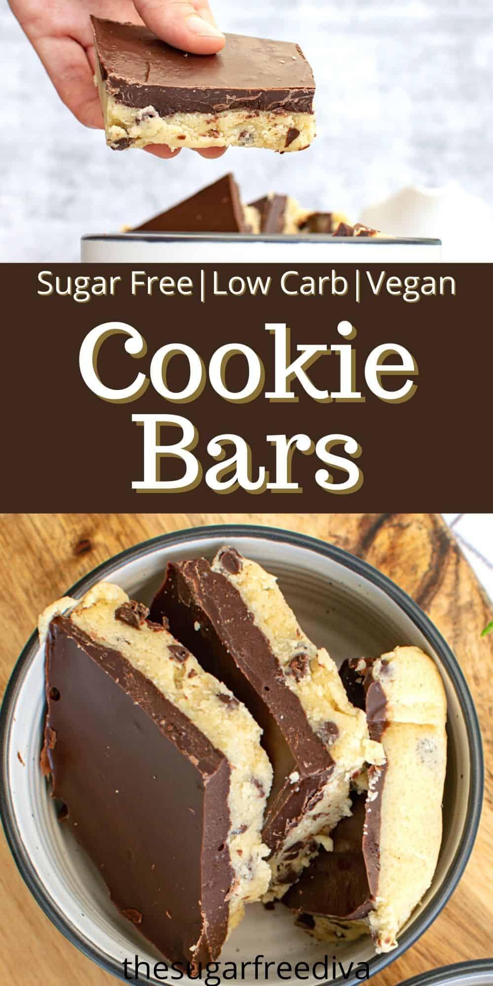 Sugar Free Low Carb Cookie Bars