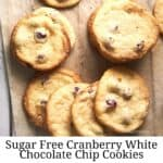 Sugar Free White Chocolate Chip Cookies