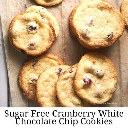 Sugar Free White Chocolate Chip Cookies