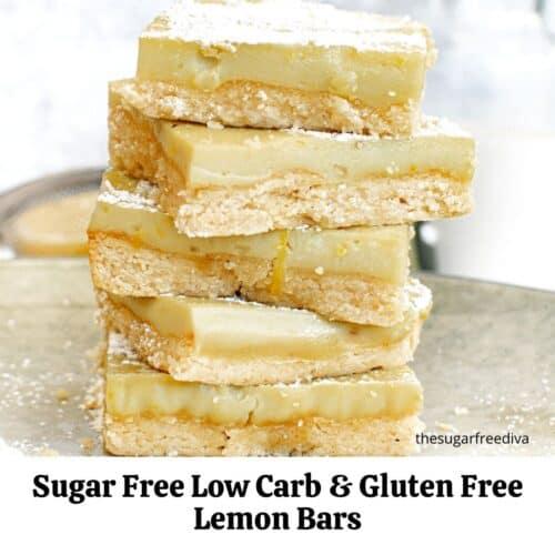 Sugar Free Low Carb Lemon Bars