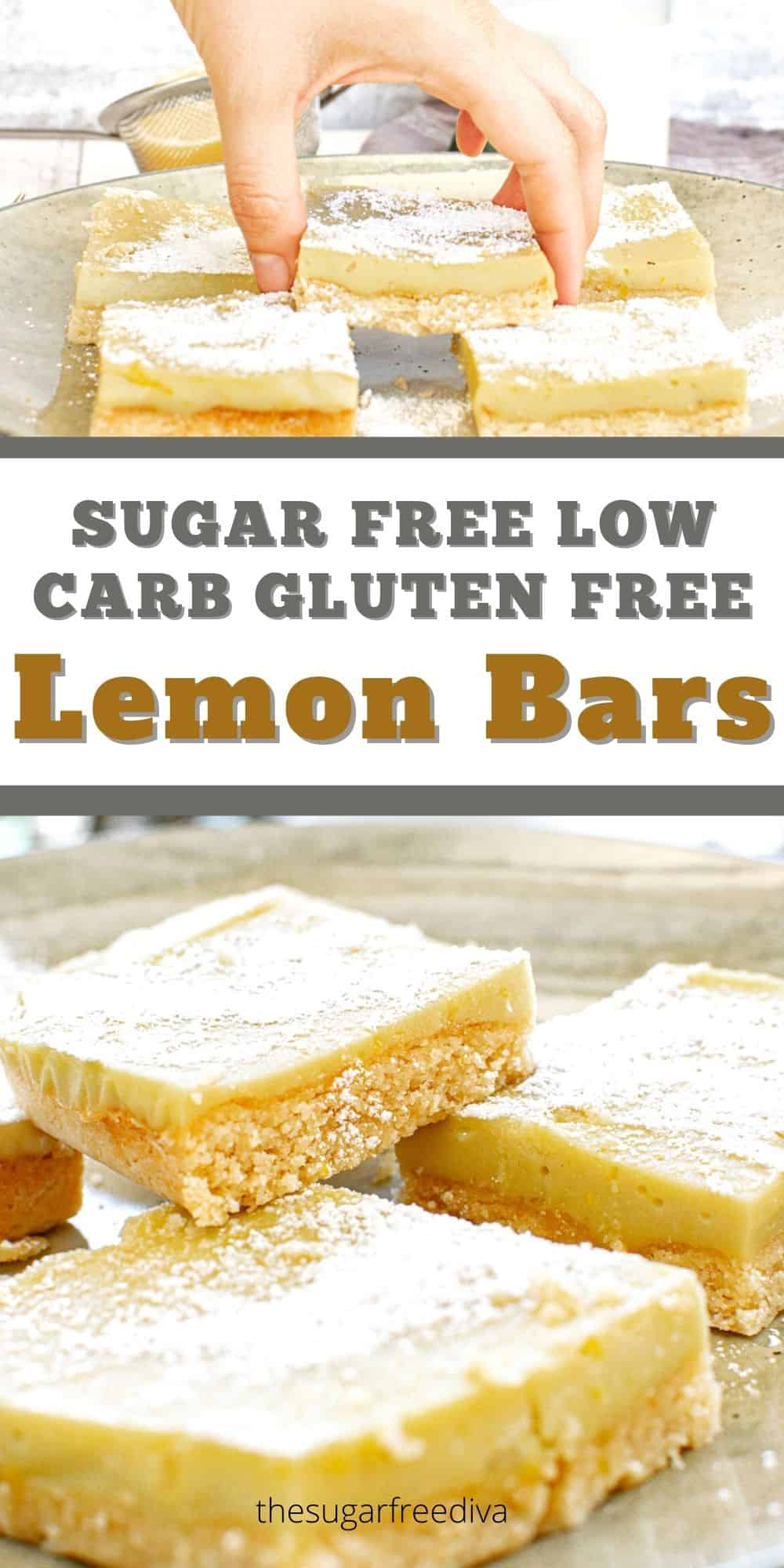 Sugar Free Low Carb Lemon Bars