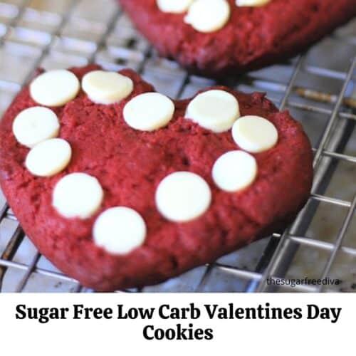 Sugar Free Low Carb Valentines Day Cookies