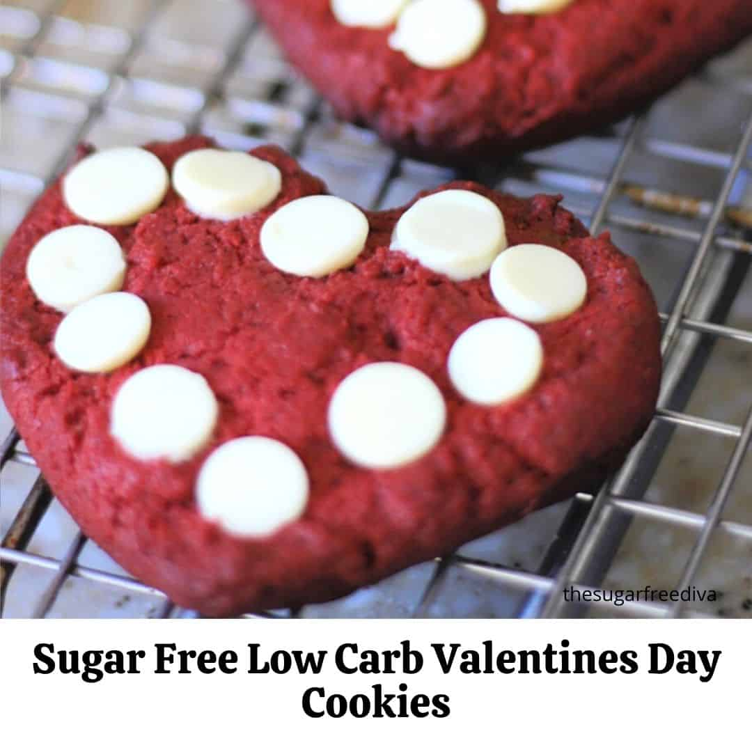 Sugar Free Low Carb Valentines Day Cookies